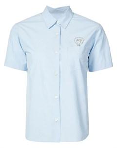 Jimi roos рубашка с коротким рукавом с вышивкой s синий Jimi roos