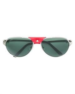 cartier солнцезащитные очки santos de cartier 59 металлик Cartier