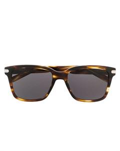 Salvatore ferragamo eyewear солнцезащитные очки в квадратной оправе 55 коричневый Salvatore ferragamo eyewear
