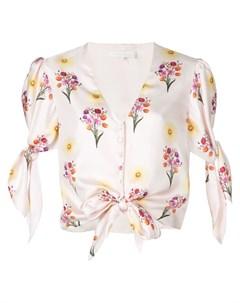 Блузка с цветочным принтом и узлом Borgo de nor