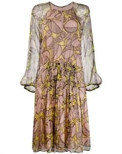 luisa cerano платье с цветочным принтом 40 нейтральные цвета Luisa cerano