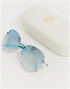 Солнцезащитные очки с серебристыми зеркальными стеклами Jade Серебряный Matthew williamson