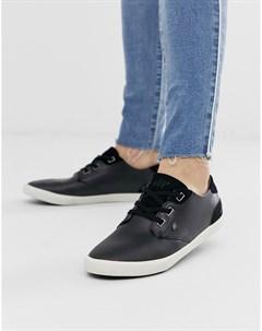 Черные кожаные кроссовки stern Boxfresh