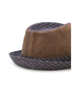 Al duca d aosta 1902 шляпа трилби с замшевыми панелями Al duca d'aosta 1902