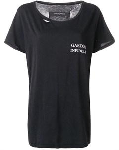 Garcons infideles футболка с логотипом Garcons  infideles