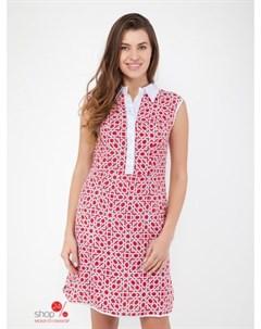 Платье цвет красный белый Alena alenkina