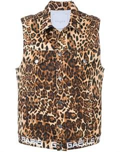 Gaelle bonheur куртка без рукавов с леопардовым принтом Gaelle bonheur