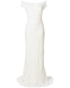 Olvi s свадебное платье со спущенными плечами 38 нейтральные цвета Olvi`s