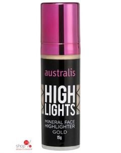 Хайлайтер жидкий для лица Highlights Golden 15 г Australis