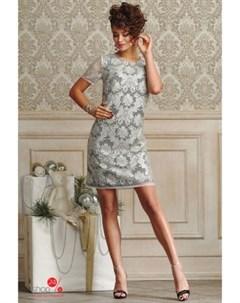 Платье цвет белый Люше