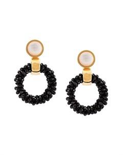 Lizzie fortunato jewels круглые серьги brancusi один размер белый Lizzie fortunato jewels
