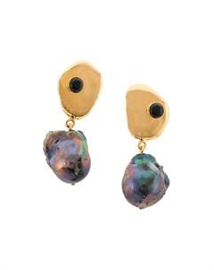 Lizzie fortunato jewels серьги подвески black sand один размер фиолетовый Lizzie fortunato jewels