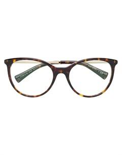 Bulgari большие очки в черепаховой оправе Bulgari
