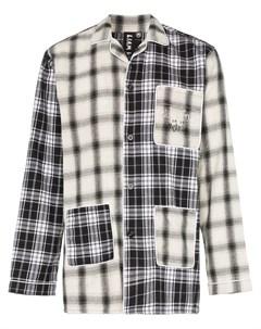 Liam hodges пижамная рубашка в клетку xs черный Liam hodges