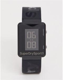 Мужские черные цифровые часы SYG204B Superdry