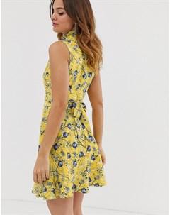 Платье мини с цветочным принтом Uttam boutique