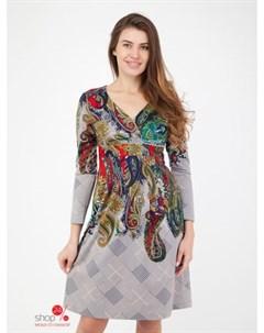 Платье цвет синий белый Alena alenkina