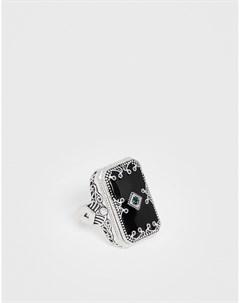 Черное броское кольцо Черный Uncommon souls