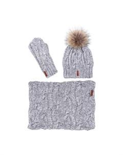 Комплект шапка снуд варежки Sava mari
