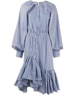 Jourden платье асимметричного кроя в клетку гингем Jourden