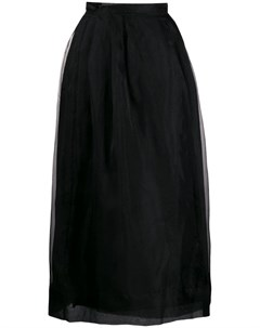 Jourden плиссированная юбка из органзы 40 черный Jourden
