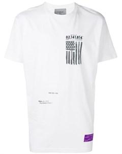 Icosae футболка с принтом слогана и флага m белый Icosae