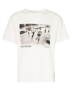 Satisfy футболка willie nelson с винтажным эффектом 2 белый Satisfy