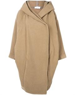 Reality studio пальто в стиле оверсайз с капюшоном m l нейтральные цвета Reality studio