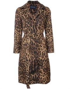 Samantha sung пальто с леопардовым принтом 8 коричневый Samantha sung