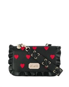 сумка через плечо Rock Ruffles Red valentino
