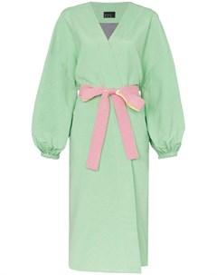 N duo пальто its robe o clock с поясом 38 зеленый N duo