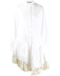 Jourden платье рубашка миди асимметричного кроя 36 белый Jourden