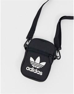 Черная сумка с логотипом трилистником Черный Adidas originals