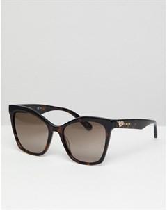 Коричневые солнцезащитные очки кошачий глаз LOVE Moschino Love moschino