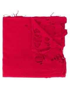 Kolor шарф оверсайз с эффектом потертости один размер красный Kolor