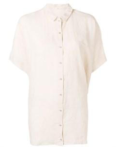 Apuntob рубашка с эффектом мятой ткани нейтральные цвета Apuntob