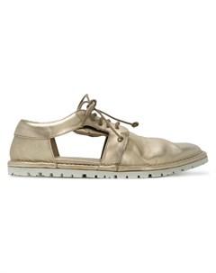 Туфли с вырезными деталями и шнуровкой Marsèll