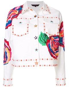 Manish arora декорированная джинсовая куртка xs белый Manish arora