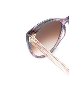 Thierry lasry солнцезащитные очки в оправе кошачий глаз 61 фиолетовый Thierry lasry