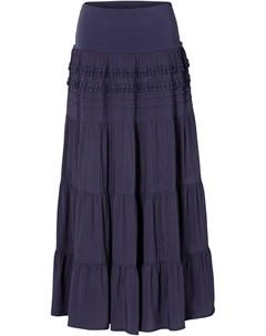 Ступенчатая макси юбка Bonprix