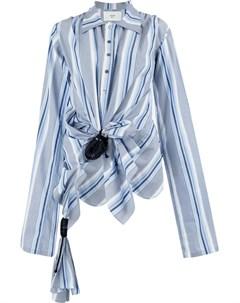 Quetsche рубашка в полоску 40 синий Quetsche