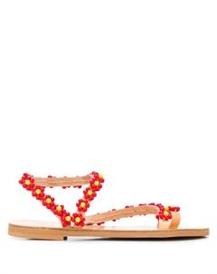 Elina linardaki сандалии с украшением в форме цветов Elina linardaki