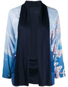 Blue blue japan жакет с цветочным принтом s синий Blue blue japan