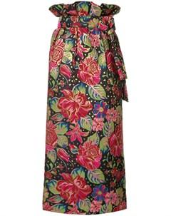 Manish arora юбка миди с цветочным принтом xs разноцветный Manish arora