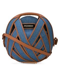 Perrin paris круглая джинсовая сумка через плечо один размер синий Perrin paris