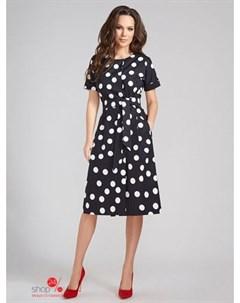 Платье цвет черный белый Devita