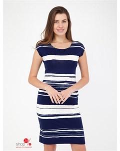 Платье цвет темно синий белый Alena alenkina