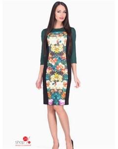 Платье цвет черный зеленый Alena alenkina