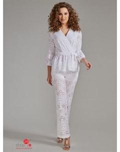 Костюм блуза брюки цвет белый Devita