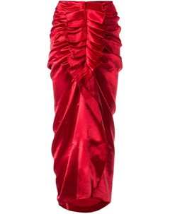 Manish arora юбка миди с оборками xxs красный Manish arora